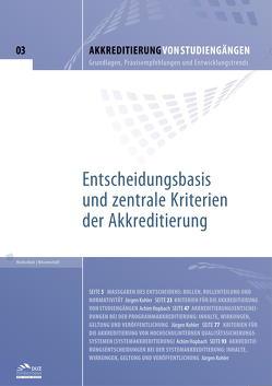 Akkreditierung von Studiengängen – Heft 3 von Hopbach,  Achim, Kohler,  Jürgen