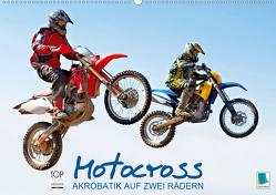 Akrobatik auf zwei Rädern: Motocross (Premium, hochwertiger DIN A2 Wandkalender 2020, Kunstdruck in Hochglanz) von CALVENDO