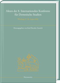 Akten der 8. Internationalen Konferenz für Demotische Studien von Zauzich,  Karl-Theodor