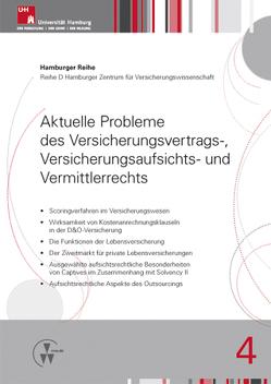 Aktuelle Probleme des Versicherungsvertrags-, Versicherungsaufsichts- und Vermittlerrechts von Drees,  Holger, Koch,  Robert, Nell,  Martin