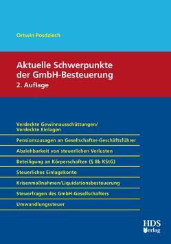 Aktuelle Schwerpunkte der GmbH-Besteuerung von Posdziech,  Ortwin