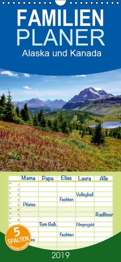 Alaska und Kanada – Familienplaner hoch (Wandkalender 2019 , 21 cm x 45 cm, hoch) von Stanzer,  Elisabeth