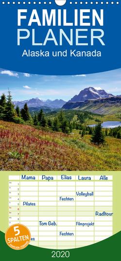Alaska und Kanada – Familienplaner hoch (Wandkalender 2020 , 21 cm x 45 cm, hoch) von Stanzer,  Elisabeth