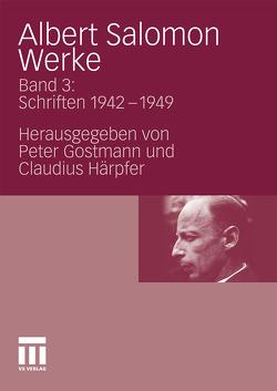 Albert Salomon Werke von Gostmann,  Peter, Härpfer,  Claudius, Ikas,  Karin, Wagner,  Gerhard