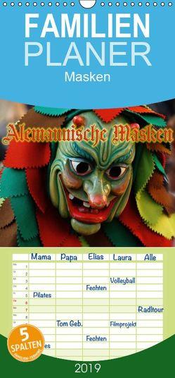 Alemannische Masken – Familienplaner hoch (Wandkalender 2019 , 21 cm x 45 cm, hoch) von Laue,  Ingo