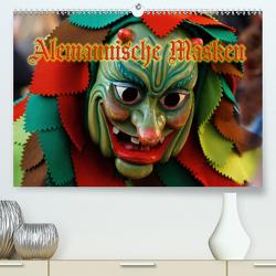 Alemannische Masken (Premium, hochwertiger DIN A2 Wandkalender 2021, Kunstdruck in Hochglanz) von Laue,  Ingo