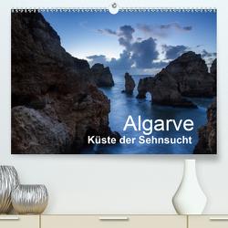 Algarve – Küste der Sehnsucht (Premium, hochwertiger DIN A2 Wandkalender 2021, Kunstdruck in Hochglanz) von Müller,  Reinhard