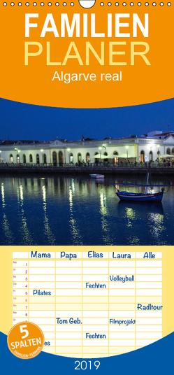 Algarve real – Impressionen aus Olhão und Tavira – Familienplaner hoch (Wandkalender 2019 , 21 cm x 45 cm, hoch) von Karin Bloch,  Elke