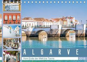 Algarve – Vom Ende der Welt bis Tavira (Tischkalender 2018 DIN A5 quer) von Meyer,  Dieter