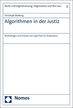 Algorithmen in der Justiz von Rollberg,  Christoph