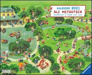 Ali Mitgutsch 2021 – Wimmelbilder – DUMONT Kinder-Kalender – Querformat 52 x 42,5 cm – Spiralbindung von Mitgutsch,  Ali