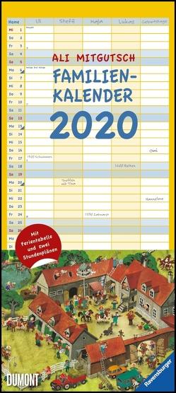 Ali Mitgutsch Familienkalender 2020 – Wandkalender – Familienplaner mit 5 Spalten – Format 22 x 49 cm von DUMONT Kalenderverlag, Mitgutsch,  Ali