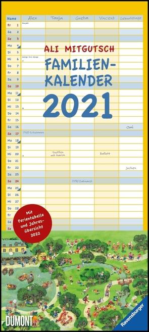 Ali Mitgutsch Familienkalender 2021 – Wandkalender – Familienplaner mit 5 Spalten – Format 22 x 49,5 cm von Mitgutsch,  Ali