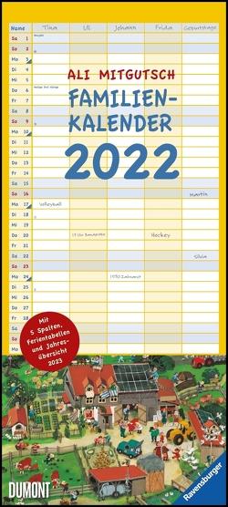 Ali Mitgutsch Familienkalender 2022 – Wandkalender – Familienplaner mit 5 Spalten – Format 22 x 49,5 cm von Mitgutsch,  Ali