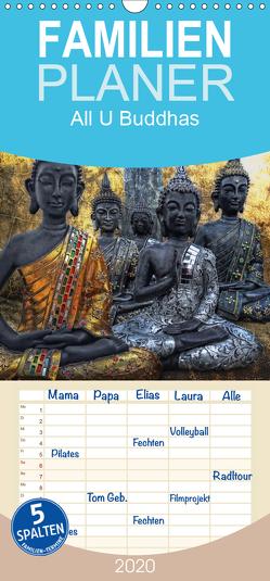 All U Buddhas – Familienplaner hoch (Wandkalender 2020 , 21 cm x 45 cm, hoch) von G. Pinkawa,  Joachim