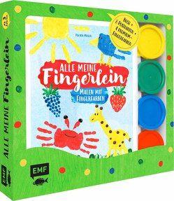 Alle meine Fingerlein: Malen mit Fingerfarben – Das Fingerfarben-Set von von Miller,  Pia