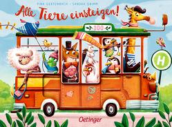 Alle Tiere einsteigen! von Gertenbach,  Pina, Grimm,  Sandra