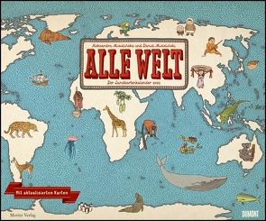 Alle Welt 2022 – Landkarten-Kalender von DUMONT– Kinder-Kalender – Querformat 58,4 x 48,5 cm von Mizielinska,  Aleksandra, Mizielinska,  Daniel