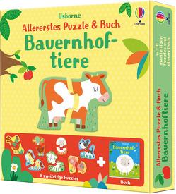 Allererstes Puzzle & Buch: Bauernhoftiere von Baggott,  Stella, Oldham,  Matthew