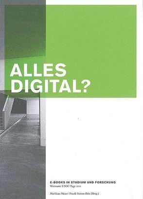 ALLES DIGITAL von Maier,  Matthias, Simon-Ritz,  Frank