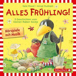 Alles Frühling!: Alles Freunde!, Alles wächst!, Alles gefärbt! (Der kleine Rabe Socke) von Delay,  Jan, Diverse, Moost,  Nele, Rohrbeck,  Oliver, Rudolph,  Annet