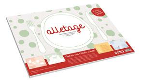 alletage – Papier-Tischset von Schneider,  Cathrin