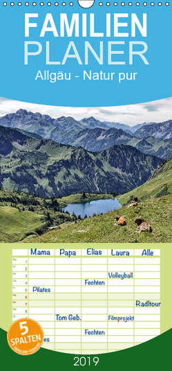 Allgäu – Natur pur – Familienplaner hoch (Wandkalender 2019 , 21 cm x 45 cm, hoch) von Becker,  Thomas