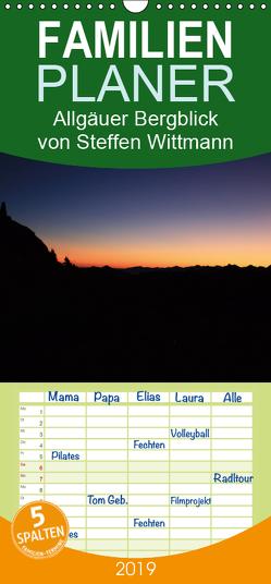 Allgäuer Bergblicke – Familienplaner hoch (Wandkalender 2019 , 21 cm x 45 cm, hoch) von Steffen,  Wittmann
