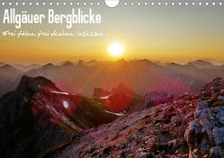 Allgäuer Bergblicke – Frei fühlen, frei denken, loslassen… (Wandkalender 2020 DIN A4 quer) von Wittmann,  Steffen