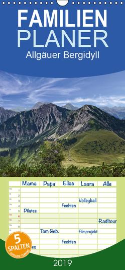 Allgäuer Bergidyll – Familienplaner hoch (Wandkalender 2019 , 21 cm x 45 cm, hoch) von Becker,  Thomas