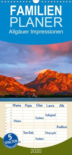 Allgäuer Impressionen – Familienplaner hoch (Wandkalender 2020 , 21 cm x 45 cm, hoch) von Wolff,  Gerd
