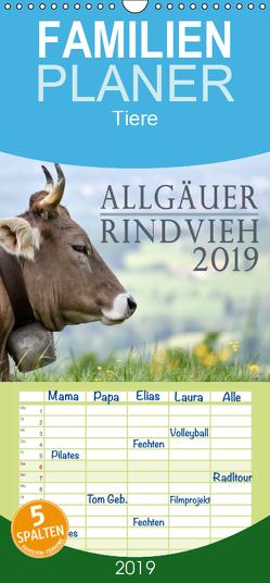 Allgäuer Rindvieh 2019 – Familienplaner hoch (Wandkalender 2019 , 21 cm x 45 cm, hoch) von Wandel,  Juliane
