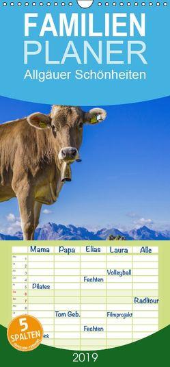 Allgäuer Schönheiten Allgäu – Land der Kühe – Familienplaner hoch (Wandkalender 2019 , 21 cm x 45 cm, hoch) von G. Allgöwer,  Walter