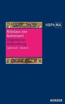Allgemeine Abhandlung von Seit,  Stefan, von Autrecourt,  Nikolaus