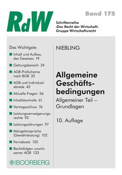 Allgemeine Geschäftsbedingungen von Niebling,  Jürgen