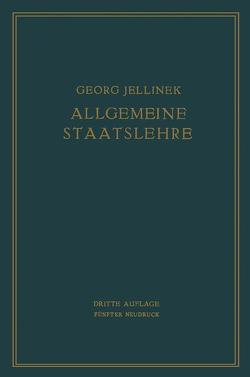 Allgemeine Staatslehre von Jellinek,  Georg, Jellinek,  Walter