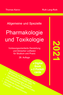 Allgemeine und Spezielle Pharmakologie und Toxikologie 2021 von Karow,  Thomas