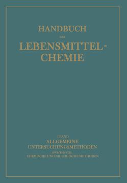 Allgemeine Untersuchungsmethoden von Bömer,  A, Juckenack,  A., Tillmans,  J.