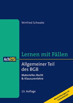 Allgemeiner Teil des BGB von Schwabe,  Winfried
