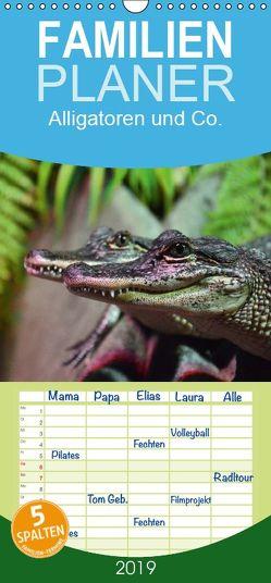 Alligatoren und Co. – Familienplaner hoch (Wandkalender 2019 , 21 cm x 45 cm, hoch) von Stanzer,  Elisabeth