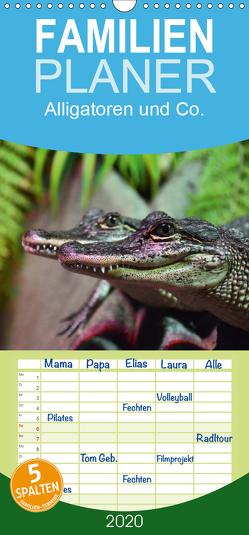 Alligatoren und Co. – Familienplaner hoch (Wandkalender 2020 , 21 cm x 45 cm, hoch) von Stanzer,  Elisabeth