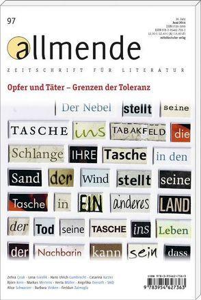 allmende 97 von Literarische Gesellschaft Karlsruhe, Schmidt-Bergmann,  Hansgeorg