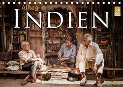 Alltag in Indien (Tischkalender 2021 DIN A5 quer) von Benninghofen,  Jens