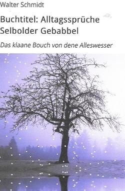 Alltagssprüche Selbolder Gebabbel von Schmidt,  Walter