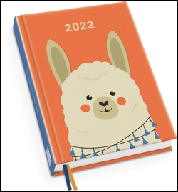 Alpaka Taschenkalender 2022 ‒ Tier-Illustration von Dawid Ryski ‒ Terminplaner mit Wochenkalendarium ‒ Format 11,3 x 16,3 cm von Ryski,  Dawid