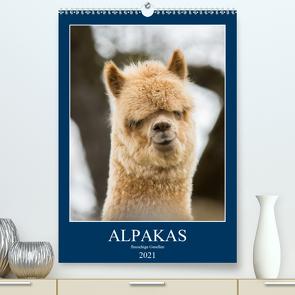 Alpakas – flauschige Gesellen (Premium, hochwertiger DIN A2 Wandkalender 2021, Kunstdruck in Hochglanz) von Mentil,  Bianca