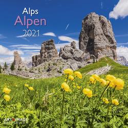 Alpen 2021 – Wand-Kalender – Broschüren-Kalender – A&I – 30×30 – 30×60 geöffnet