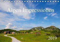 Alpen Impressionen (Tischkalender 2019 DIN A5 quer) von Jähne,  Karin