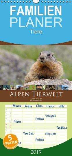 Alpen Tierwelt – Familienplaner hoch (Wandkalender 2019 , 21 cm x 45 cm, hoch) von Tappeiner,  Kurt