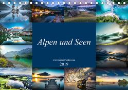 Alpen und Seen (Tischkalender 2019 DIN A5 quer) von Fischer,  Janina